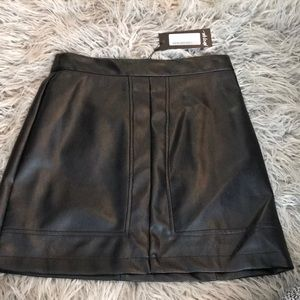 Nasty gal black leather skirt